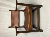 Fine Vintage Early 20th Century Original Adolf Loos Vienna Fireside Leather Armchair Secessionist Oak (3 of 46)