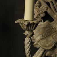 Italian Polychrome Pair of Twin Arm Wall Lights (7 of 10)