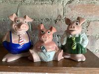 Fine Set of Pigs from the 1970's Natwest Bank Money Boxes (3 of 3)