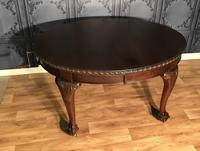 Edwardian Mahogany Extending Dining Table Two Leaves (15 of 16)
