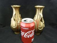 """2 Antique Chinese Bras / Bronze Vases """"Squirrels"""" Qing Dynasty 19th Century (4 of 5)"""