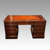Victorian Mahogany Pedestal Desk (8 of 10)