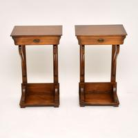 Pair of Antique Empire Style Fruitwood Side Tables (3 of 8)