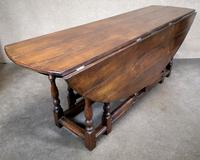 Large Oak Drop Leaf Table, Gate Leg Table, Dining Table - Seats Eight Persons (3 of 9)