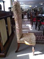 Victorian Mahogany  Upholstered Prayer Chair (4 of 8)