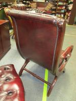 Chesterfield Red Leather Slipper Chair (4 of 4)