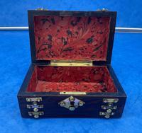 Victorian Brassbound French Rosewood Trinket Box (5 of 11)
