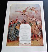 1909 Versailles French Journal.   William Morris Advert.  Folio Sized Coloured Plates (2 of 4)