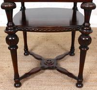 Marble Oak Side Table Continental Queen Anne (10 of 10)