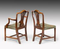 Attractive Set of 10 (8+2) Camel Backed Mahogany Framed Chairs (4 of 7)