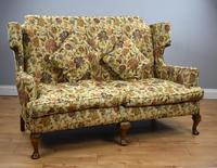 Queen Anne Style Wing Back Sofa