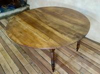 19th Century French Chestnut Circular Drop Leaf Table (10 of 10)