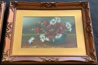 Attractive Matching Pair of 19th Century Oil Paintings Floral Still Life Study (3 of 8)