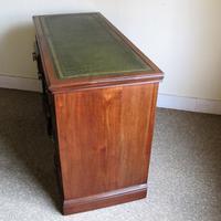 Walnut Kneehole Writing Desk - Edwardian c.1910 (4 of 8)