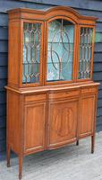 Exceptionally Fine Quality Edwardian Satinwood Display Cabinet c.1901 (14 of 20)