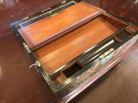 Burr Walnut Brass Inlaid Writing Box (9 of 17)
