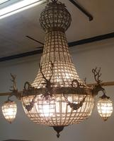 20th Century French Stags Head Ornate Chandelier (5 of 13)