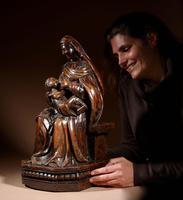 Charming Maria Lactans Sculpture Continental Early 18th Century (13 of 14)