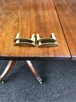 Antique Mahogany Twin Pillar Extending Dining Table (9 of 11)