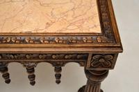 Antique Carved Marble Top Coffee Table (7 of 14)