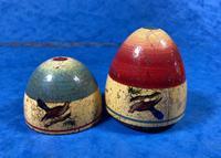 19th Century Skittles Game in Tunbridge Ware White Wood Painted Egg (4 of 21)