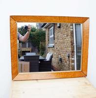 Victorian Birds Eye Maple Overmantle Mirror (8 of 12)