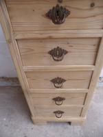 Lovely Victorian Antique Pine 5 Drawer Chest / Cabinet to wax / paint (7 of 10)