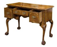 Late 18th Century Walnut Lowboy on Carved Cabriole Legs (6 of 9)
