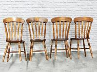Set of 4 Lath Back Kitchen Chairs (4 of 5)