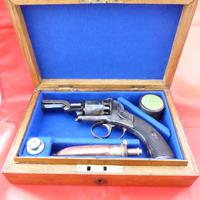 Webley Percussion Pistol Cased With Accessories
