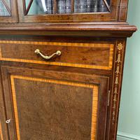 Exceptional Inlaid Victorian Antique Glazed Bookcase by Edwards and Roberts (10 of 10)