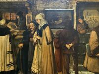 Substantial 19th Century Flemish Oil Painting of Locals in Brugge by Dumont (9 of 21)