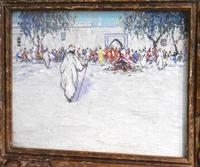 North African market scene oil painting (3 of 9)