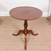 Tripod Lamp Table Mahogany 19th Century (6 of 8)