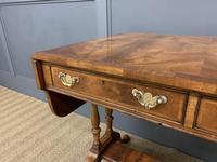 Good Burr Walnut Sofa Table c.1900 (5 of 19)