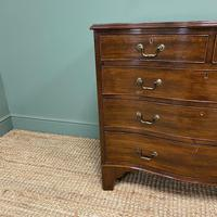 Edwardian Walnut Serpentine Antique Chest of Drawers (7 of 9)