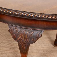 Oak Dining Table & 6 Chairs Telescopic 19th Century (6 of 19)