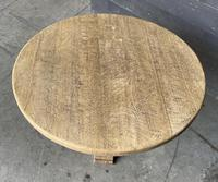 French Round Bleached Oak Farmhouse Dining Table (8 of 19)