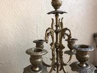 Antique French Gilded Bronze 8 Day Striking Garniture Set / Mantel Clock (2 of 9)