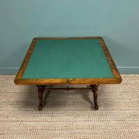 Quality Figured Walnut Victorian Antique Card Table / Games Table (3 of 9)