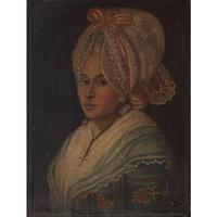 18th-Century French School Portrait of Lady with Bonnet, Oil Painting (3 of 9)
