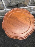 Antique Ornate Walnut & Brass Wine Table (5 of 5)