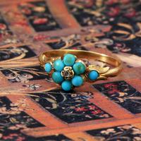 The Antique Eight Turquoise & Diamond Ring (5 of 5)