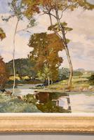 """Oil Painting by Francesco Pablo de Besperato """"A River Landscape"""" (5 of 6)"""