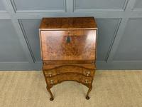 Charming Queen Anne Style Burr Walnut Bureau (3 of 12)