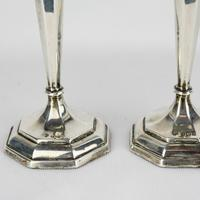 1912-1913 Birmingham William Hutton & Sons Silver Candlesticks (7 of 10)