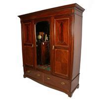 Edwardian Three Door Wardrobe (2 of 8)