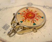 Vintage Pocket Watch Chain Florin Fob 1967 Lucky Silver & Enamel Two Shilling Fob (9 of 10)