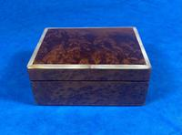 1920s Burr Cedar Box Edged in Mother of Pearl (3 of 9)