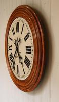 Rare 33 Inch Industrial Oak Wall Clock (6 of 10)